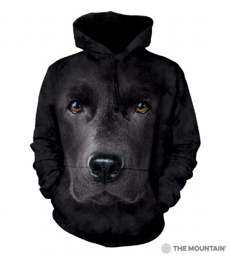 Black Lab Face - Adult Hoodie Sweatshirt - The Mountain®